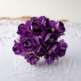 Mini różyczki 10 mm fioletowe