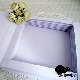 Baza kartki-książki 14 cm biała