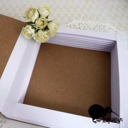 Baza kartki-książki 14 cm biało-kraftowa