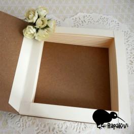 Baza kartki-książki 14 cm kremowo-kraftowa