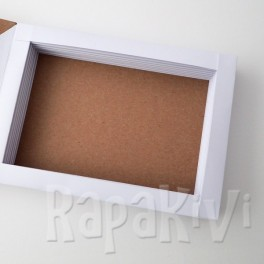 Baza kartki-książki pozioma biało-kraftowa