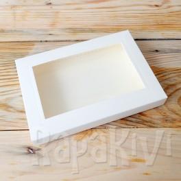 Pudełko z okienkiem A6, 300 g, krem
