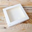 Pudełko z okienkiem kwadratowe, 300 g, krem