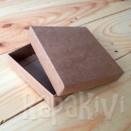 Pudełko mini 8 x 8 x 2 cm, 300 g, kraftowe